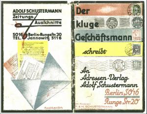 Schustermann-Katalog